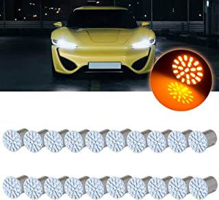 cciyu 20 pcs Yellow LED Exterior Light Bulbs Replacement fit for turn Signal,Side marker,Corner,Stop lights