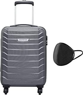 Aristocrat Juke Polycarbonate 55 cms Grey Hard Sided Carry-On (JUKE55TMGP) & VIP - VSAVE 6 Layer Protective Air Mesh Large...