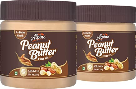 Alpino Crunch Peanut Butter, 250g (Pack of 2)