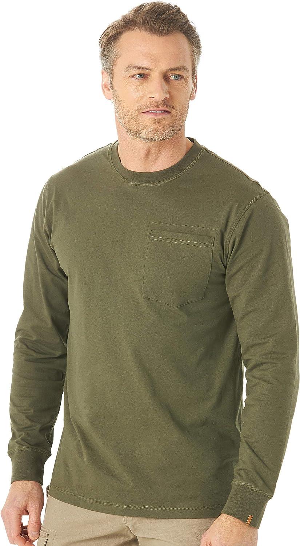 Wrangler Riggs Workwear Men's Long Sleeve Pocket Performance T-Shirt