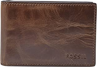Fossil Men's Derrick Leather Money Clip Bifold Wallet