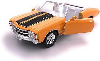 H Customs 1971 Chevelle SS 454 Modellauto Auto Lizenzprodukt 1:34 1:39 Gelb