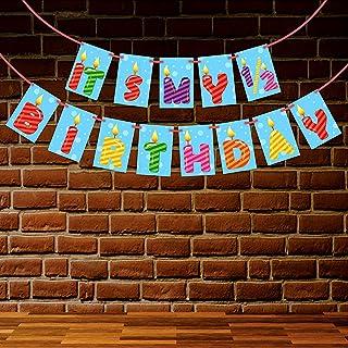 Wobbox Candle Theme 1/2 Birthday Bunting Banner, Half Birthday Decorations, Birthday Decoration Item
