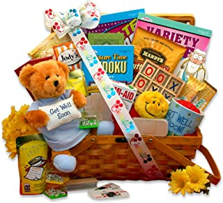 Get Well Wishes! Gourmet Snack and Activity Get Well Gift Basket