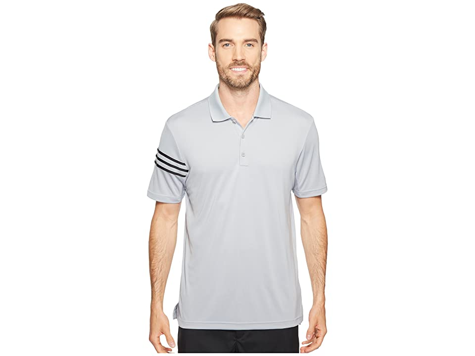 adidas Golf CLIMACOOL(r) 3-Stripes Polo (Mid Grey/Black/White) Men