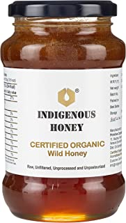 INDIGENOUS HONEY Raw Organic Honey Unprocessed Unfiltered Unpasteurized Pure Natural Original Honey - 530 Grams Glass Jar...