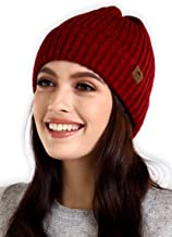 Tough Headwear Winter Beanie Knit Hats for Men & Women - Warm, Stretchy & Soft Cold Weather Stylish Toboggan Skull Caps - Serious Cuff Beanies Watch Cap for Serious Style