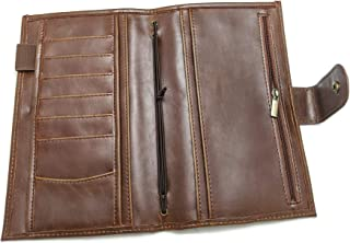 Brown Mega Weeks Cover for Hobonichi Planners Faux/Vegan Leather Agenda Organizer Diary Open Top Pocket