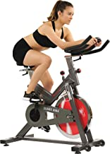 Sunny Health & Fitness Unisex Adult SF-B1712 Belt Drive Indoor Cycling Bike - Black, One Size