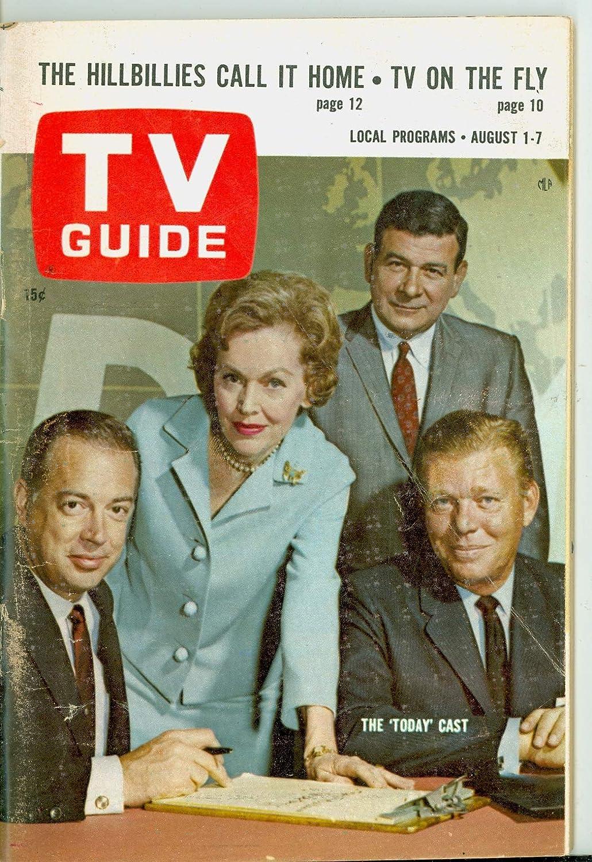 1964 TV Guide Aug 1 Today Show Spasm price - O' Edi Store Maureen Chicago Sullivan