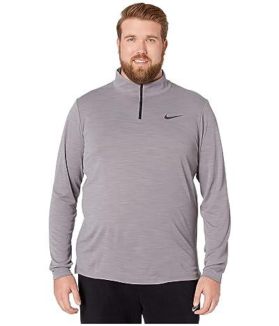 Nike Big Tall Superset Top Long Sleeve 1/4 Zip (Gunsmoke/Black) Men