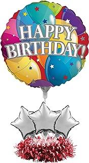 Creative Converting 268809 Metallic Happy Birthday Balloon Centerpiece Kit Party Supplies, One Size, Multicolor