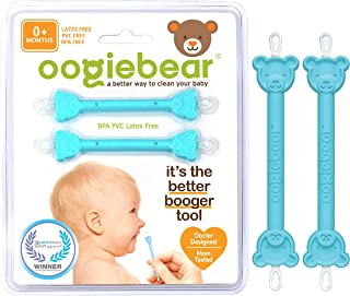 oogiebear - Patented Curved Scoop and Loop - The Safe Baby Nasal Booger and Ear Cleaner - Baby Shower Registry Essential |...