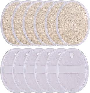 Bekith 12 Pack Exfoliating Loofah Pads, Natural Luffa Material Loofah Sponge Shower Body Scrubber Brush for Men/Women, Per...