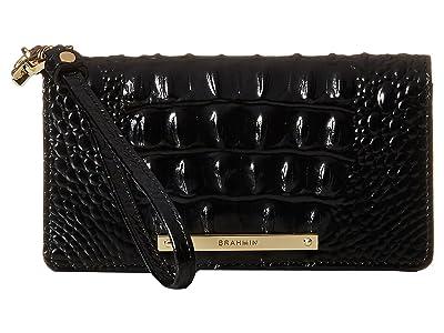 Brahmin Melbourne Debra Bag (Black) Clutch Handbags
