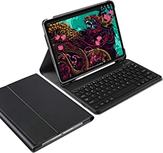 iPad Pro 11 2020 Keyboard Case [QWERTY] , IVSO iPad Pro 11 2020 Case with Keyboard, Ultra-Slim Stand Case Cover with Magnetically Detachable Wireless Keyboard for iPad Pro 11 2020 Tablet, Black