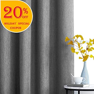 Tonal Blackout Grey Curtains for Bedroom 84