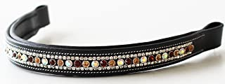 Challenger Tack BROWBAND Bling Crystal Horse English Bridle USA Leather Polo 809209