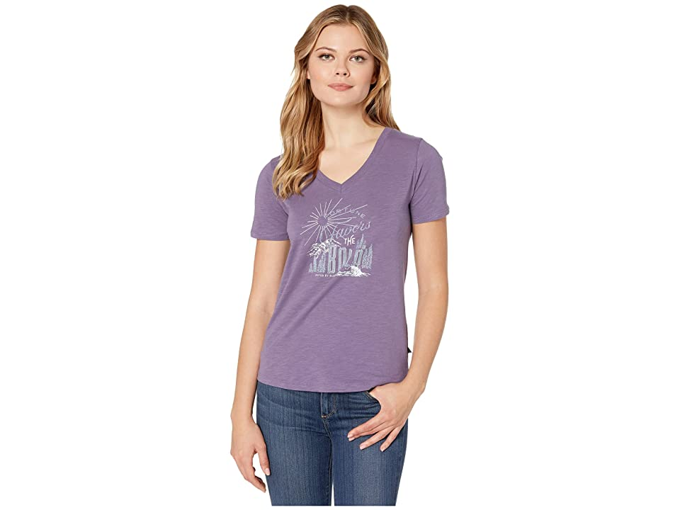 United By Blue Fortune Favors Short Sleeve Graphic Tee (Dusty Purple) Women