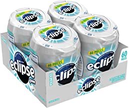 ECLIPSE Polar Ice Sugarfree Gum, 2.9-Ounce 60 Piece Bottle (4 Bottles)