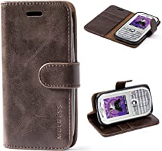 Mulbess Moto E 2nd Protective Cover, Magnetic Closure RFID Blocking Luxury Flip Folio Leather Wallet Phone Case with Card Slots and Kickstand for Motorola Moto E 2nd, Coffee Brown