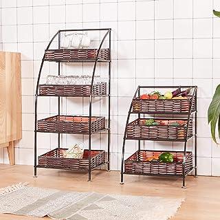 YLKCU Porte épices Paniers de Rangement de Cuisine, Grand Tissage Artificiel de Panier en rotin, Support Multifonctionnel ...