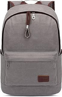 KAUKKO Vintage Canvas Backpack Rucksack Casual BookBags Rucksack Backpacks Grey