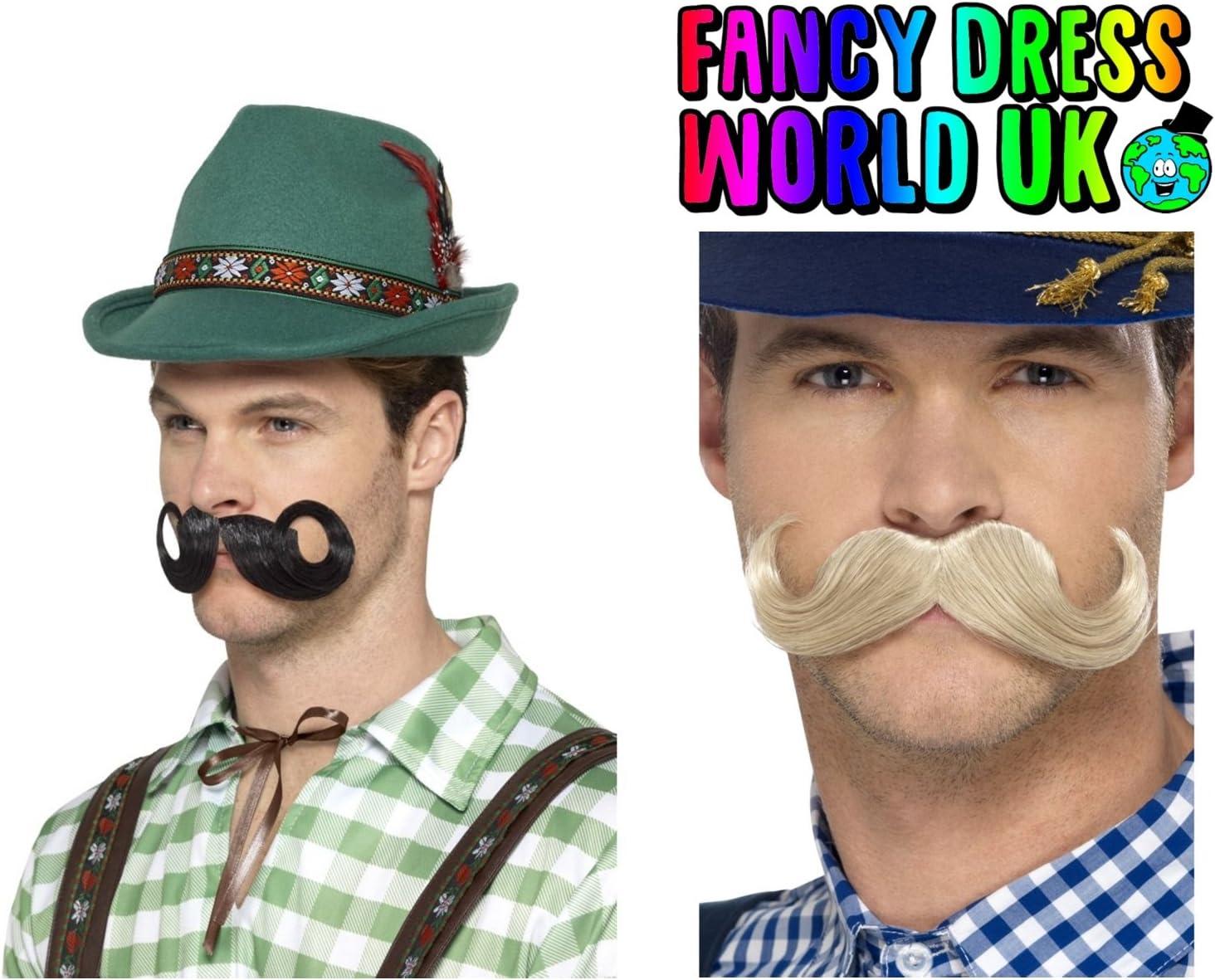 Deluxe Oktoberfest Hat Beer German Festival Mens Fancy Dress Costume Accessory