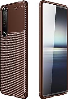جراب RanTuo لهاتف Sony Xperia 1 III، مضاد للخدش، سيليكون ناعم، مقاوم للصدمات، غطاء لهاتف Sony Xperia 1 III. (بني)