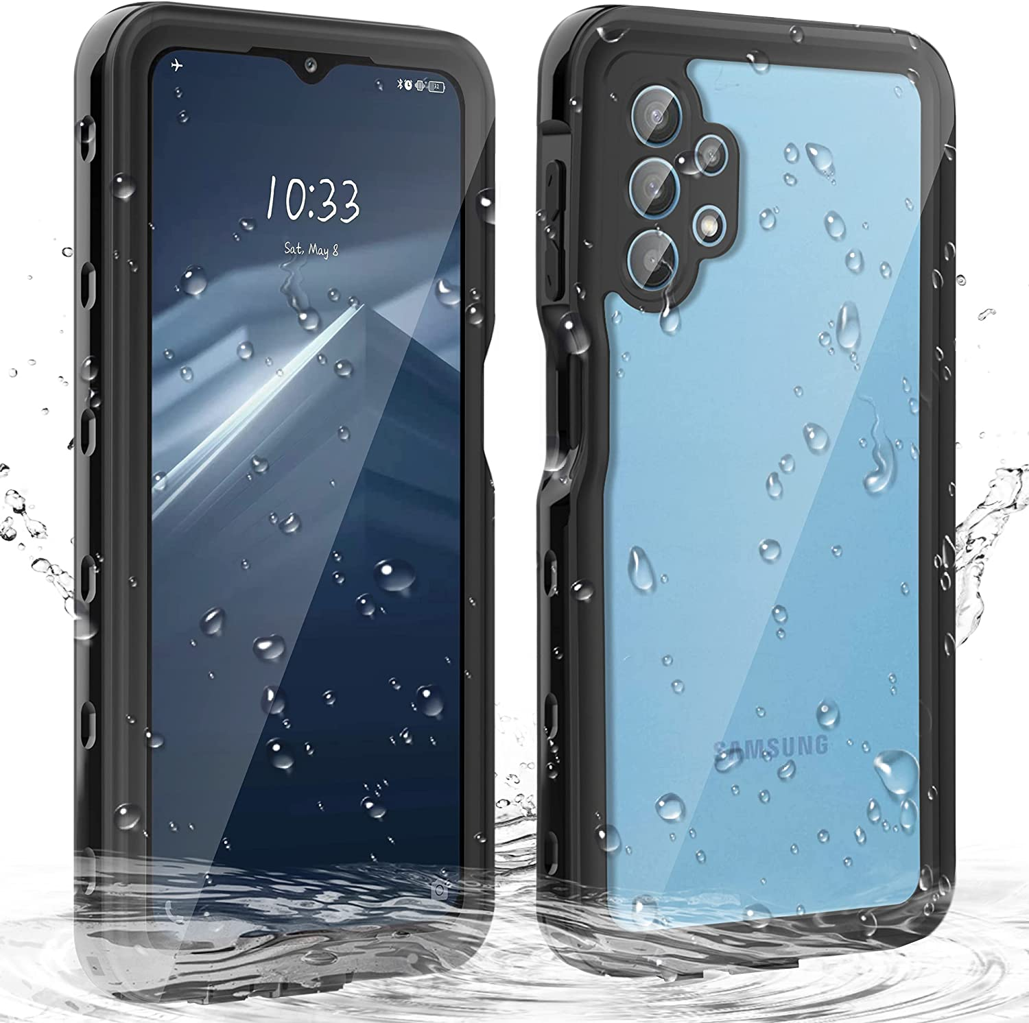 Janazan for Samsung Galaxy A32 Case 5G, Full Body Protective Samsung A32 Waterproof Case with Built-in Screen Protector, Heavy Duty Shockproof Sand Proof for Samsung Galaxy A32 5G
