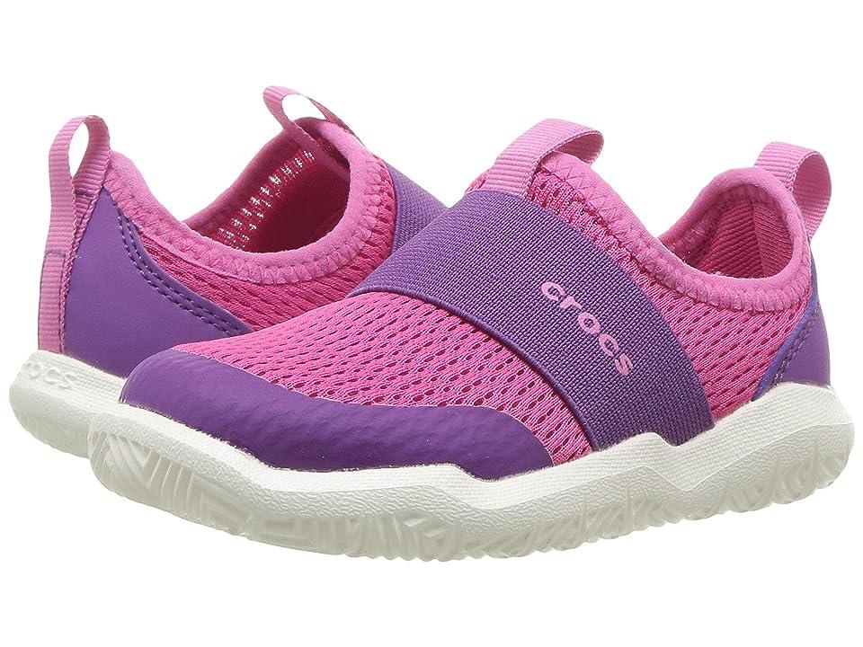 Crocs Kids Swiftwater Easy-On Shoe (Toddler/Little Kid) (Candy Pink/Amethyst) Kid