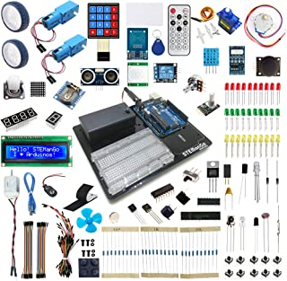 STEMango Super UNO R3 Starter Kit for Arduino Beginners,Complete Electronics Inventor's Kit for Adult Teens Kids Learning Progarmming with Step by Step English Project Guide Book 200 Parts 24 Circuits