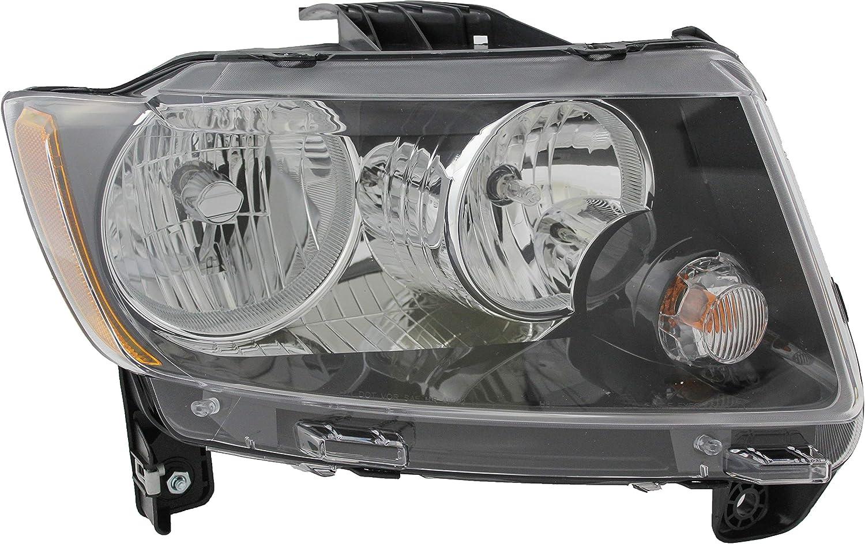 JP Auto Headlight 奉呈 Compatible 毎日激安特売で 営業中です With Passeng 2015 Compass Jeep 2014