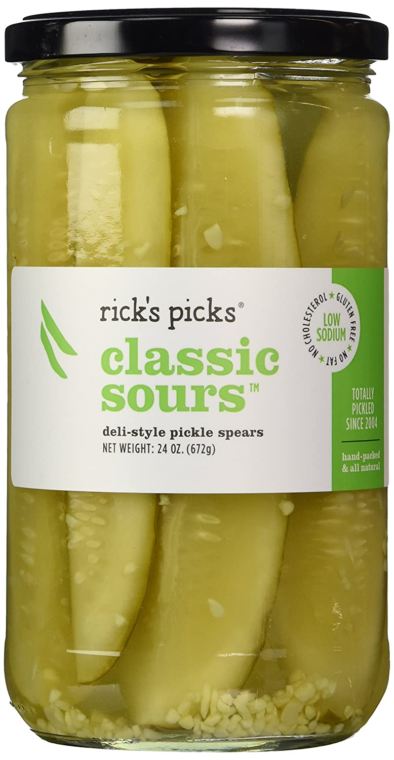 Rick's Picks Classic specialty shop Sours Ranking TOP9 Deli o Style Pickle Spears 24