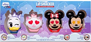 Lip Smacker Disney Emoji Lip Balm 4 Pack, Mickey, Minnie, Marie and Daisy, 2 Count