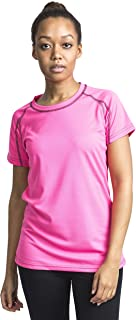 TRESPASS Quick Dry Mamo Women's Outdoor Short Sleeve T-Shirt Available in Hi Visibility Pink - 2X-Small