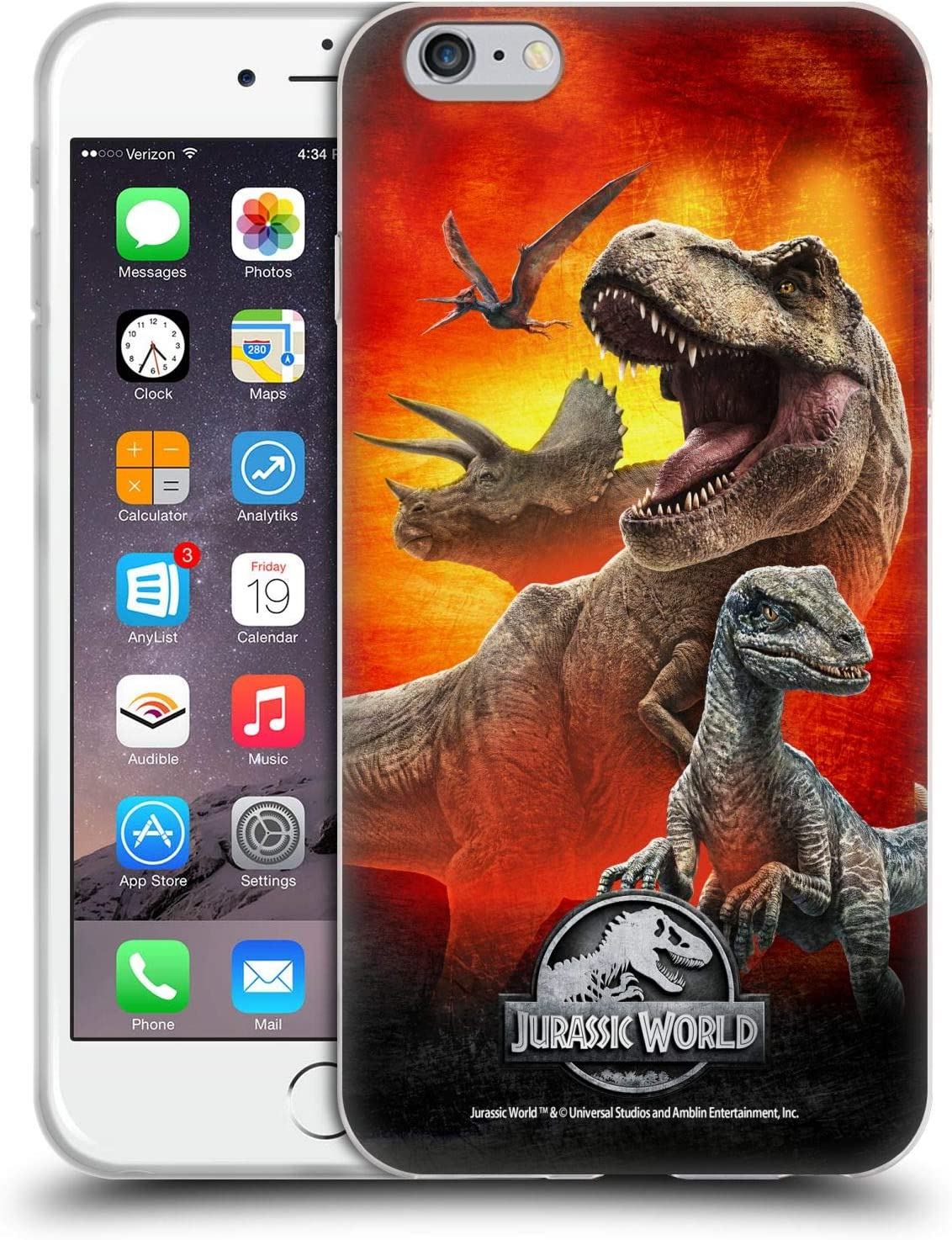 Head Case Designs Officially Licensed Jurassic World Dinosaurs Key Art Soft Gel Case Compatible with Apple iPhone 6 Plus/iPhone 6s Plus