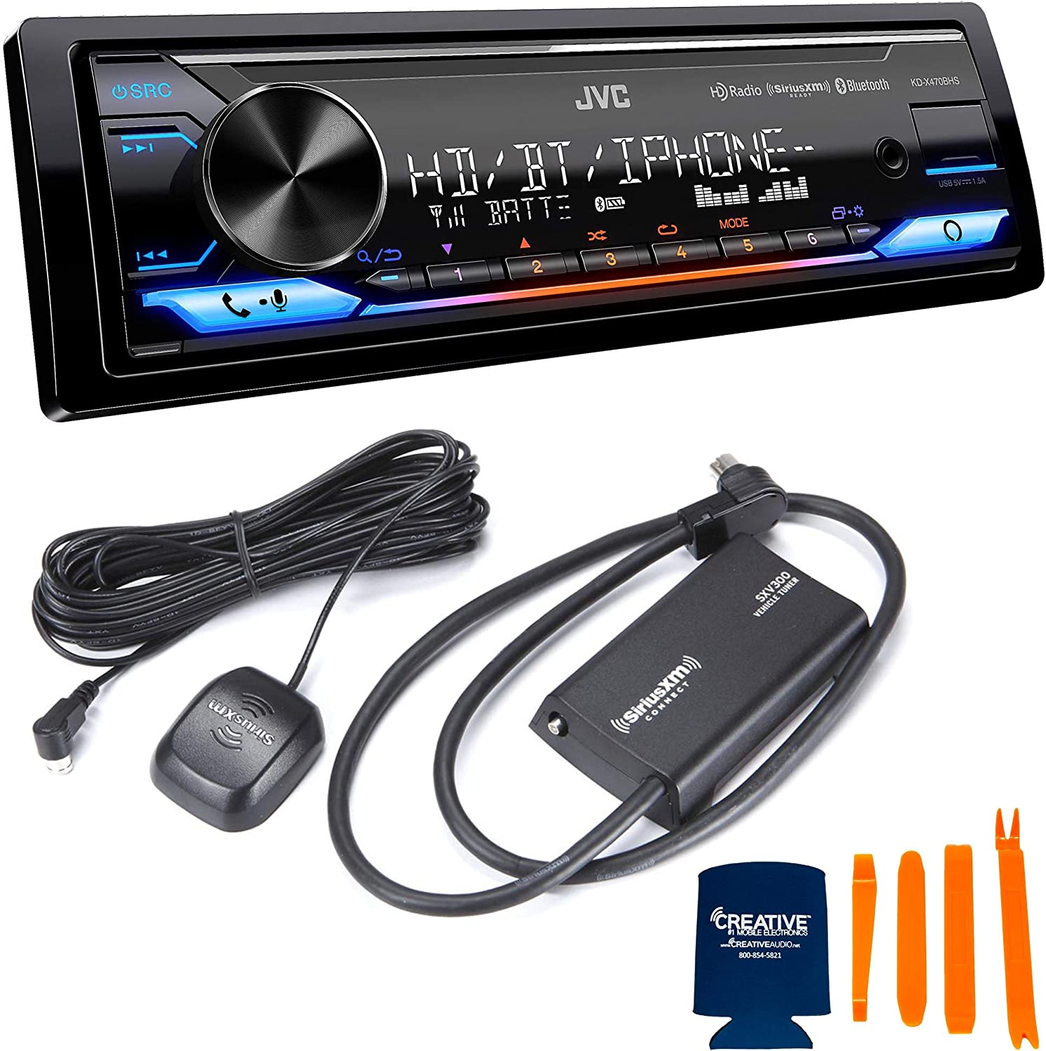 JVC NEW before selling ☆ Stereo Seasonal Wrap Introduction Package KD-X470BHS Digital S with Compatible Receiver