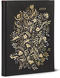 High Note 2019 Dinara's Floral in Gold by Dinara Mirtalipova Weekly Planner 18-Month Engagement Calendar Academic Organizer