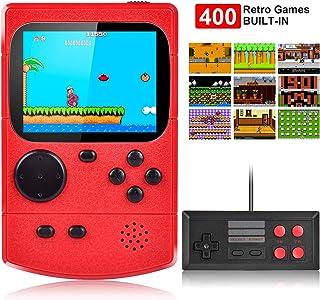 Kiztoys Console de jeu portable,Console de Jeu Retro FC,avec 400 jeux FC..