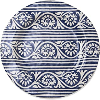 tag - Artisan Melamine Salad Plate, Durable, BPA-Free and Great for Outdoor or Casual Meals, Blue (Set of 4)