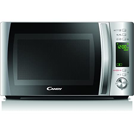 Candy Microonde CMXG20D - Grill e App Cook-in, 20L, 40 Programmi Automatici, 700 W, Argento, 25.9 x 35.75 x 44 cm
