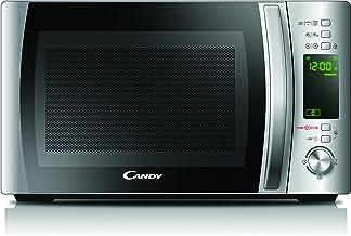 Candy CMXG20DS Microondas con grill y cook in app, Capacidad 20L, 40 Programas automáticos, Plato giratorio 24,5cm, Potencia 700W, Acero inoxidable antihuellas, 700 W, 20 litros, Acier INOX