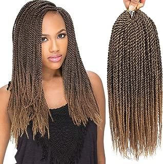 6Packs 30 Strands Senagalese Twist Crochet Braids Hair Ombre Senegalese Twist Small Havana Mambo Twist Hair Crochet Twist Braiding Hair Synthetic Crochet Hair Extension (18inch-6Pac, 1B-27)