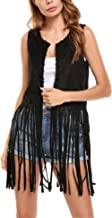 long black fringe vest
