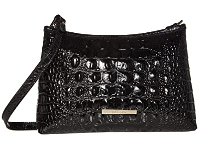 Brahmin Melbourne Lorelei Shoulder Bag (Black) Shoulder Handbags