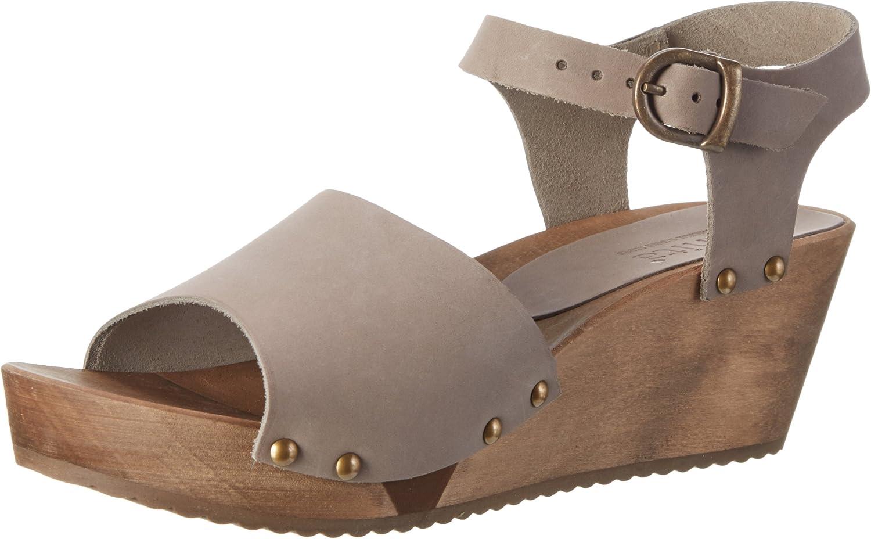 Sanita Womens Olisa Wedge Flex Olied Leather Sandals