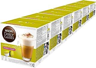 Nescafé Dolce Gusto Cappuccino light, Ongezoet, Koffie, Set van 6, 6 x 16 Capsules (48 Kopjes)