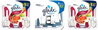 Glade PlugIns Scented Oil Air Freshener Value Pack, 2 Warmers + 6 Apple Cinnamon refills, 4.02 fl oz