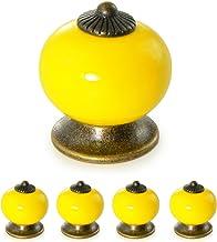 Ganzoo meubelknoppen set van porselein/keramiek – meubelgreep deurknop kastgreep kastknop meubelknop - knop & greep in vin...